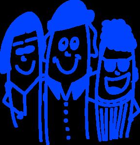 Drei Leipziger Freunde, die sich in Zeiten der Coronakrise helfen, supporten und unterstützen.